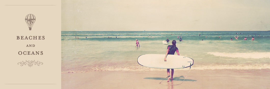 young surfer vintage beach photography